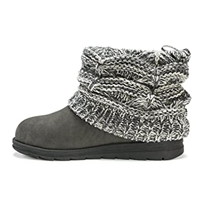 MUK LUKS Women's Patti Cable Cuff Boot | Ankle & Bootie