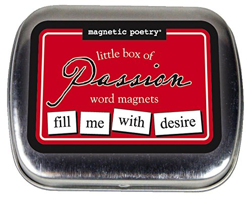 Magnetic Poetry - Little Box of Passion Kit - Words for Refrigerator - Write Poems and Letters on the Fridge - Made in the - Of Minneapolis Mall America Stores