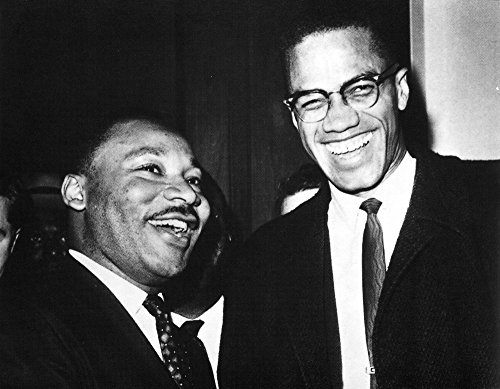 Martin Luther King Jr and Malcolm X Photo Print (10 x 8)