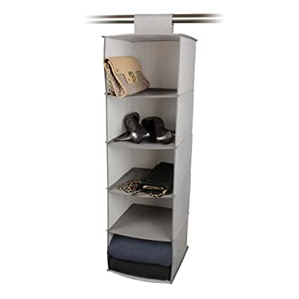 Closet Storage Hanging 5 Shelf Organizer With Velcro Attachment