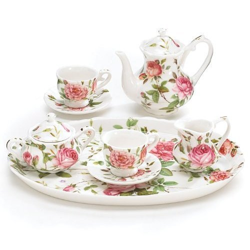 Burton & Burton 8 Piece Porcelain Mini Saddlebrooke Tea Set