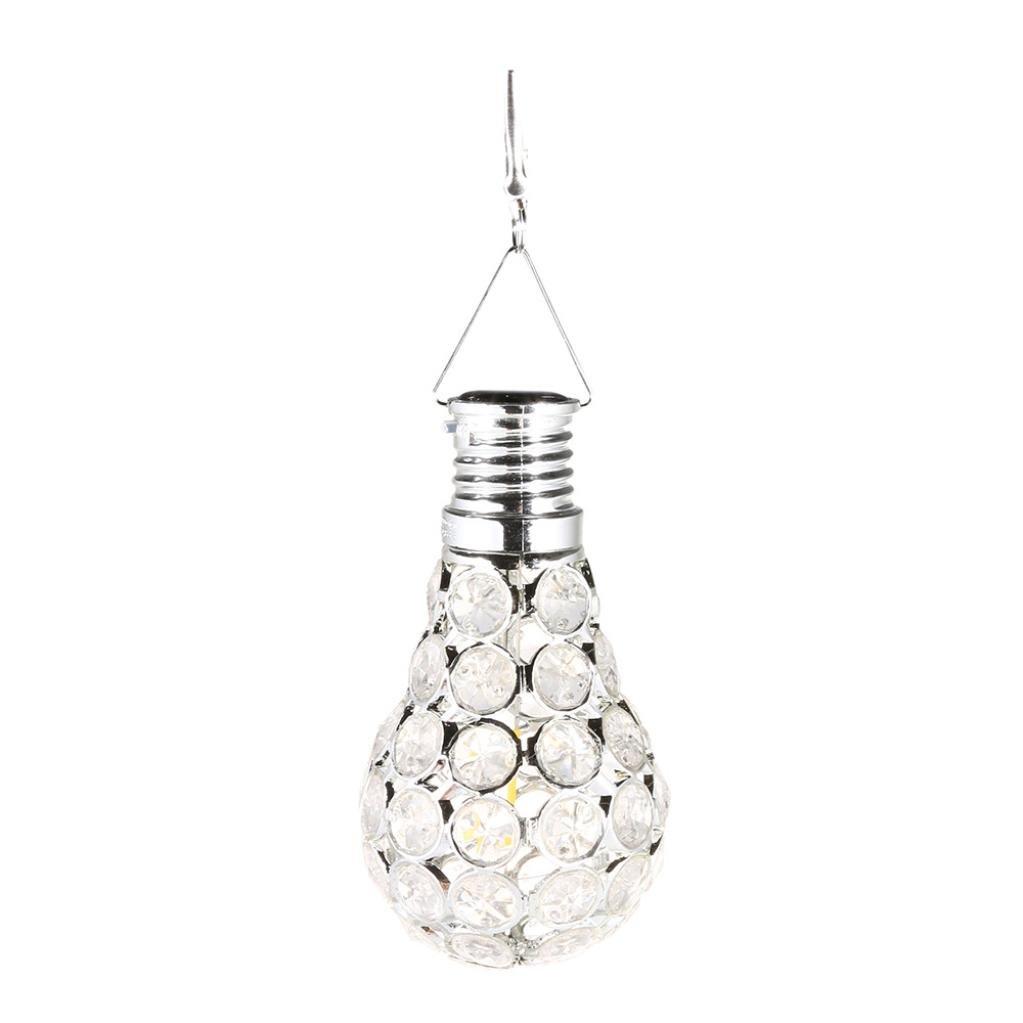 Wandleuchte--sunshineBoby Wasserdichter drehbarer Garten-kampierende hängende LED Licht-Lampen-Birnen-im Freien--Solar Lichterkette Sensor-Licht-Birnen mit Selbstschalter im Freien / Innen-LED-Beleuchtungs-Lampe für Portal-Haustür-Garage Keller (Silber, 11