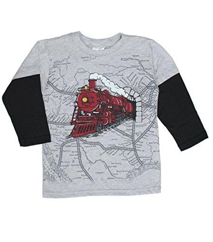 Mulberribush Tumbleweed Little Boys' Train/Map 2fer Tee i...