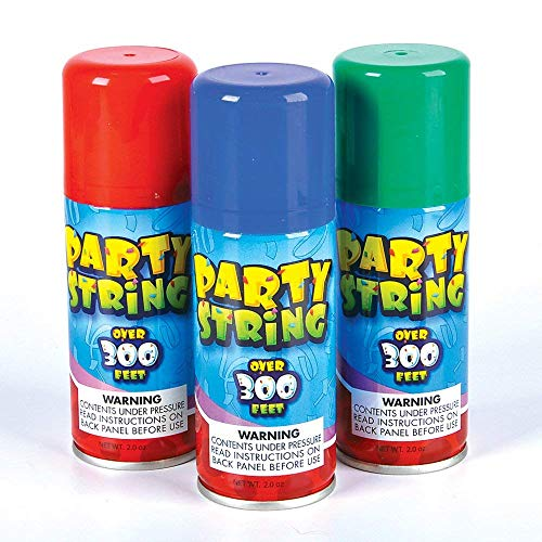SILLY Crazy Party STRING in a can - 3 cans per order ()