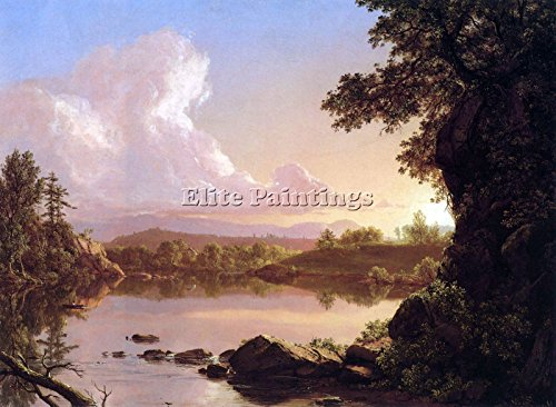 Church Oil Paintings - CATSKILL CREEK BY FREDERICK EDWIN CHURCH ARTIST PAINTING OIL CANVAS REPRO ART 18x24inch