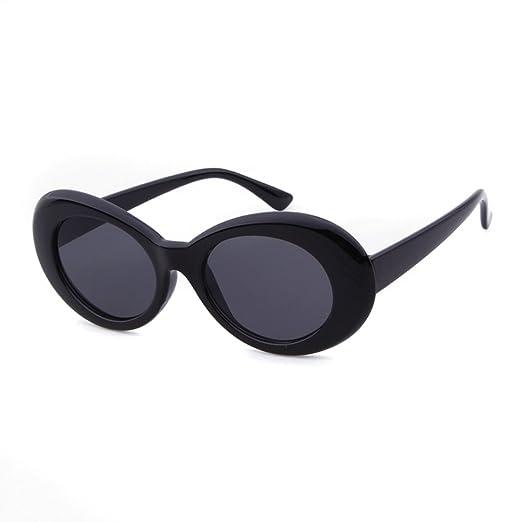 b802816650 Amazon.com  Clout Goggles Oval Bold Retro Sunglasses UV Kurt Cobain ...