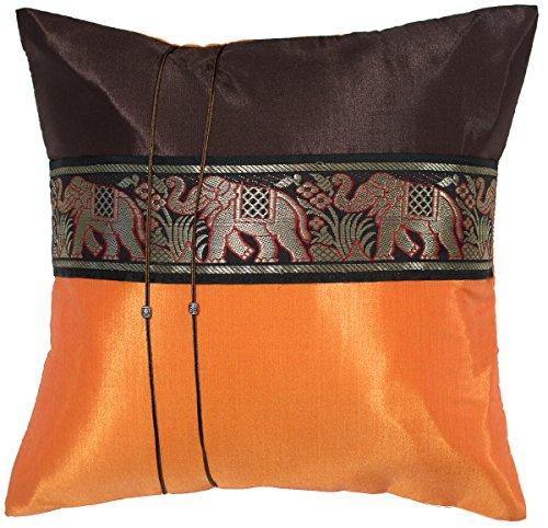 Avarada 16x16 Inch  Striped Elephant Decorative Throw Pillow