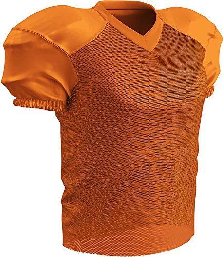 CHAMPRO Adult Stretch Polyester Practice Football Jersey, Orange, Medium - Football Stretch Jersey