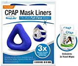RespLabs Full Face CPAP Mask Liners — [3 Pack] Reusable, Universal, and Super Comfortable.