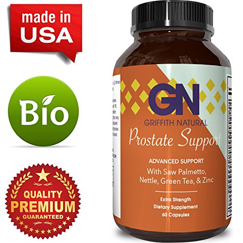 Prostate Support Prostate Supplement For Men + Natural Formula Saw Palmetto + Vitamin E + Amino Acids + Pygeum – 100% Pure & Reduce Symptoms of Frequent Urination & Hair Loss