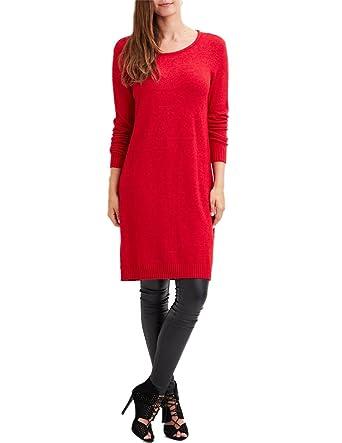 outlet store 39950 865ef Vila Kleid Viril L / S Strickkleid Rot L Rot: Amazon.de ...