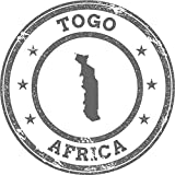 Togo Map Africa Grunge Rubber Stamp Home Decal Vinyl Sticker 12'' X 12''