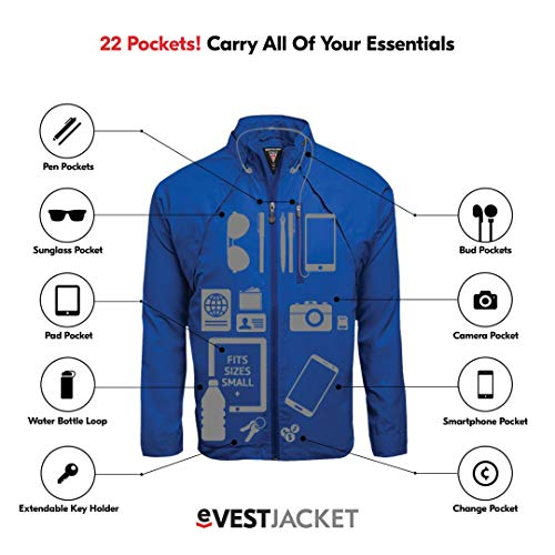 SCOTTeVEST Tropiformer Jacket - Rain Jackets Men, Travel Clothing, Windbreaker