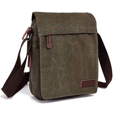 ENKNIGHT Nylon Crossbody Purse Bag for Women Travel Shoulder handbags (Navy green)