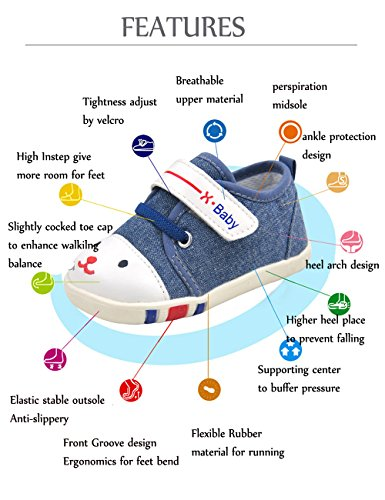 Baby Girls Shoes Sneaker Canvas Jogging Running Walking Playing Hiking Indoor Outdoor Atheltic Shoe