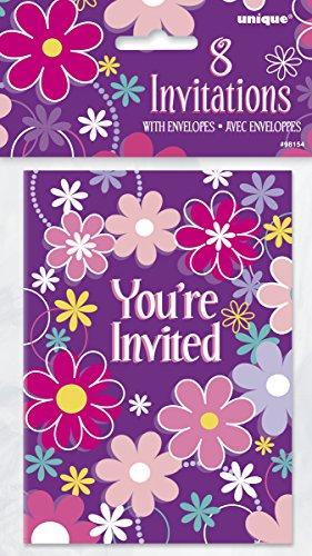 Unique 98154 Blossom Birthday Invitations