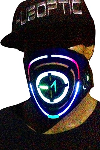 ORBIT-X16 Black Light Up Mask Halloween Party Purge LED DJ Mask EDM Rave Mask