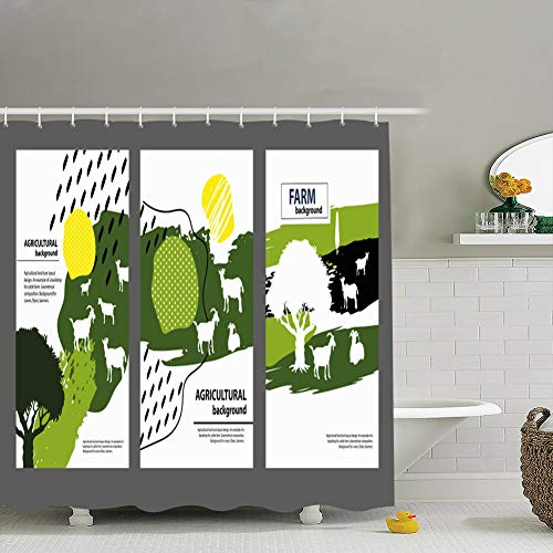 Agricultural Brochure Layout Design Example Backdropfarm Shower Curtain 72