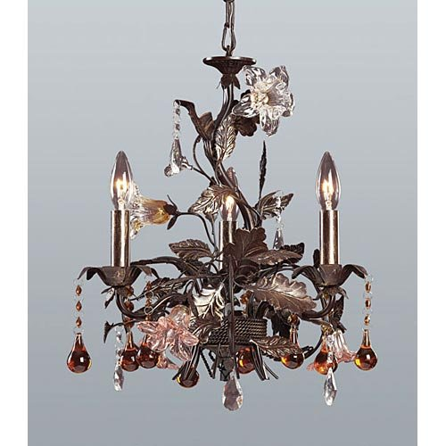 ELK Lighting Cristallo Fiore 3-Light Chandelier 85001 - 17W in. (Cristallo Fiore 18 Light)