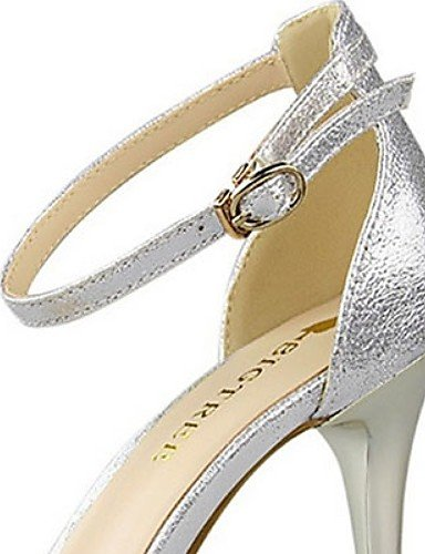 Oro Heel Golden Cn34 Eu35 tacchi casual Donna tacco argento Aghi us5 scarpe Uk3 Scarpe poliuretano Ggx 4PIwzw