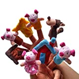 GogoForward 8pc New Three Little Pigs Finger Puppets Kids Educational Hand Toy Story Toy for Boy Girl