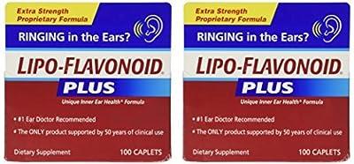 Lipo-Flavonoid Plus Unique Ear Health Caplets, 2 Count by Lipo-Flavonoid