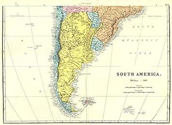 Carte Amerique Latine Uruguay.Argentine Chili Paraguay Uruguay Amerique Du Sud Du Sud Feuille