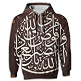 Muslim Shahada Islam Novelty Elegant 3D Graphic Hoodie Sweatshirt For Men Hoody