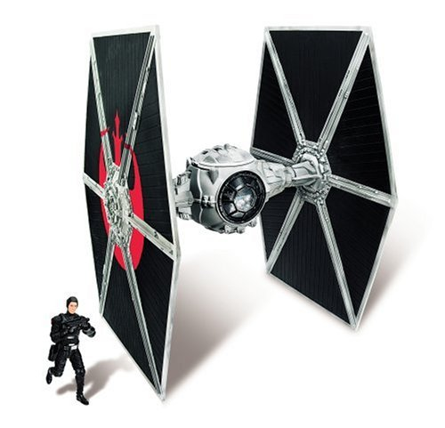 Star Wars Ecliptic Evader Droid Series Pirate Version Tie Fighter with Hobbie Klivian Action (Federation Droid Fighter)