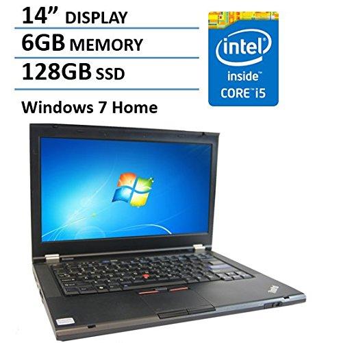 Lenovo Thinkpad T420 14-inch Bussiness laptop (Intel i5 2520M Dual-Core CPU, 6GB RAM, 128GB SSD, SD card reader, eSATA, VGA, WiFi, RJ45, DVDRW, Windows 7 Home Premium) (Certified Refurbished)