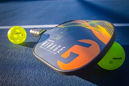 Gamma Mirage Composite Pickleball Paddle: Pickle Ball Paddles for Indoor & Outdoor Play - USAPA Approved Racquet for Adults & Kids - Orange/Green by Gamma (Image #9)