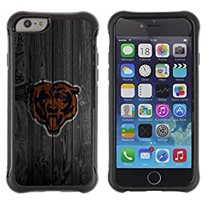 Lady Case@ Chicago Bear Football Rugged Hybrid Armor Slim Protection Case Cover Shell For iPhone 6 Plus CASE Cover ,iphone 6 5.5 case,iPhone 6 Plus cover ,Cases for iPhone 6 Plus 5.5
