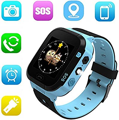 Jsbaby Kids Smart GPS Watch 1.44 inch Touch Smartwatch GPS Kid Tracker for Children Girls Boys Birthday Gift with Camera SIM Calls Anti-Lost SOS GPS ...