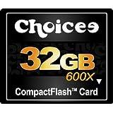 【32GB】 Choicee 600倍速 CFカード/コンパクトフラッシュ CHOI32GCF600