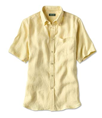 40dd81f7 Orvis Short-Sleeved Pure Linen Shirts/Pure Linen Shirts at Amazon Men's  Clothing store: