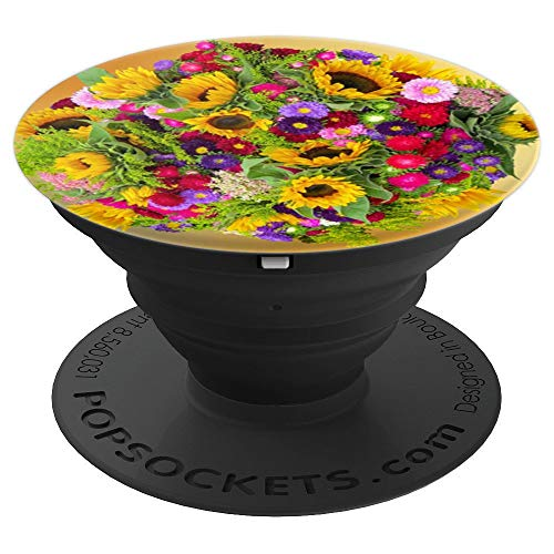 (Sunflower Pop Up Cellphone Holder,Color Floral Popup Gripper - PopSockets Grip and Stand for Phones and Tablets)
