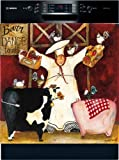 Appliance Art Barn Dance Chef Decorative Magnetic Dishwasher Front Panel Cover - Quick, Easy & Affordable DIY Kitchen Upgrade - Print by Jennifer Garant