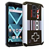 Cheap LG K7 Case, DURARMOR [Drop Protection] Vintage Nintendo NES Game Controller Dual Layer Hybrid ShockProof Ultra Slim Fit Armor Defender Protector Case for LG Tribute 5 / LG K7 NES Armor