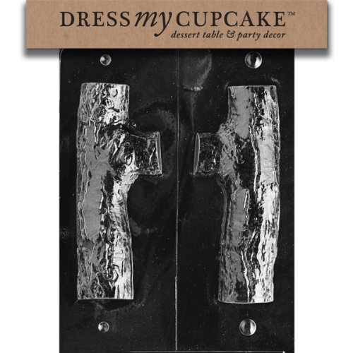 (Dress My Cupcake DMCC132SET Chocolate Candy Mold, 3D Yule Log, Set of 6)