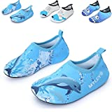 Himal Kids Water Shoes Boys Girls Toddlers Water Shoes Water Proof Socks Beach Shoes For Beach Sporting Swimming (Navy-Blue-Dolphin) 11.5-12.5 M US Little Kid