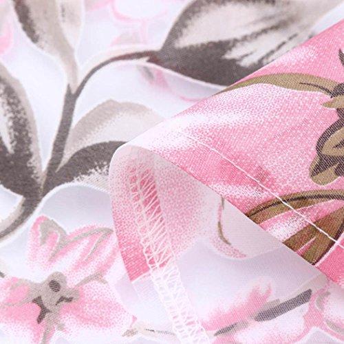Blanc Tutu Élégant De Soirée cou D'été Robe V V Robe Adeshop Slim Sans Fil Net Col Impression Maxi Robes Fleurs Chic Femmes Princesse Manches Longue 4F1SwFx