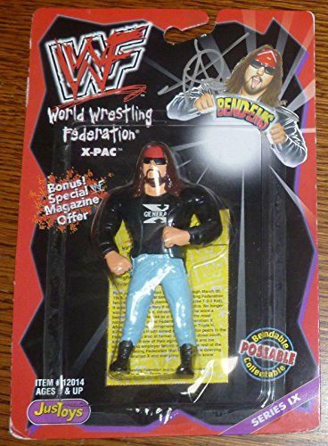 X-Pac Signed WWE 1998 WWF Bend-Ems Action Figure COA Just Toys Autograph - PSA/DNA Certified - Autographed Wrestling Cards
