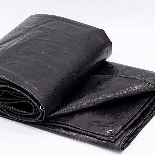 ポルノポルノ寝室PENGFEI オーニング ターポリン 防水 カーポート 雨布 吸熱 工場 シェード 日焼け止め ポリエチレン、 厚さ0.12MM、 200 G/M² (色 : ブラック, サイズ さいず : 5x7M)