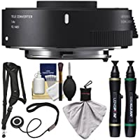 Sigma TC-1401 1.4x Teleconverter (for Canon EOS Cameras) with Sling Strap + Cleaning Kit