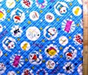 <Qキャラクター・キルティング生地>ドラえもん(ブルー)#29(キルティング キルト キャラクター キルティング生地 布 入園 入学 ピロル)