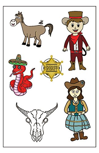Cowboy & Western Temporary Tattoos, Party Favors]()