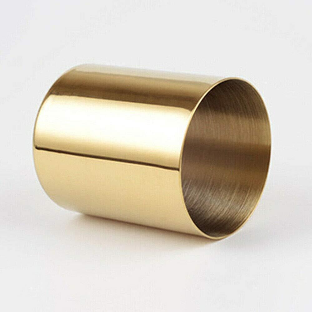 Supertool 1 paquete Portal/ápices redondo de acero inoxidable dorado para casa u oficina