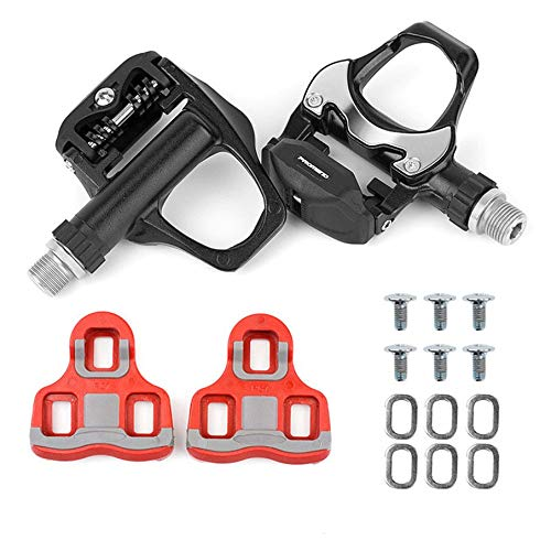 KNOSSOS Road Vehicle Lock Pedal Bearing Self-Locking scarpe Pedal with Lock Blade Riding - nero