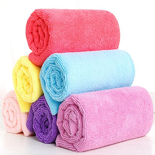 Wholesale Katherine Super Soft Absorbent Microfiber Hair Towel For Drying Hair Bath Towels 13 x 30 inch Lavender for sale