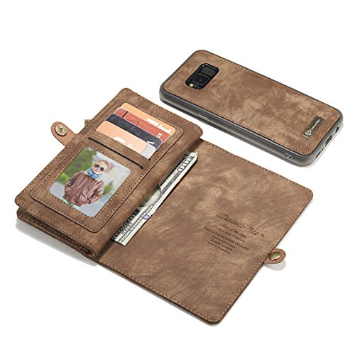Galaxy Note 9 Case,Miya Premium PU Leather Wallet Case with ID Card Holder Flip Cover Case [Magnetic Closure] Detachable Zipper Pouch Case for Samsung Galaxy Note 9 (2018 Release) - Light Brown by MIYA LTD (Image #3)